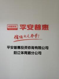 平安普惠投資咨詢有限公司陽江體育路分公司