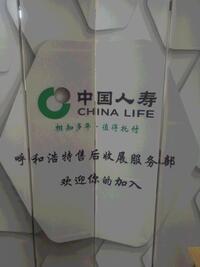 中国人寿保险股份有限责任公司呼和浩特市新城区支公司