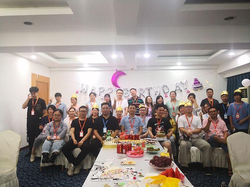 【生日會】在拼搏奮斗的歲月里,感恩與你同行 杭州濱興科技(機電之家,今日招聘,馬蜂盯標) 部分員工生日會!
