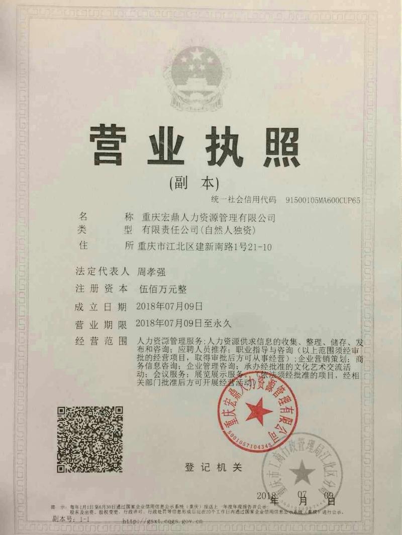 重庆宏鼎人力资源管理有限公司